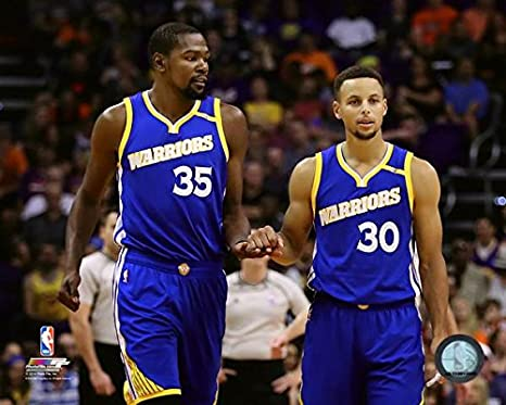 8 x 10 NBA Kevin Durant Stephen Curry Golden State Warriors 2016-2017 Action Photo