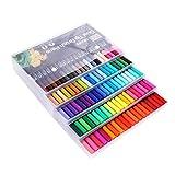 Artibetter 100 unids Puntas de Pincel de Doble Punta Dibujo Pintura Arte rotuladores Marcador de caligrafía delineador Conjunto