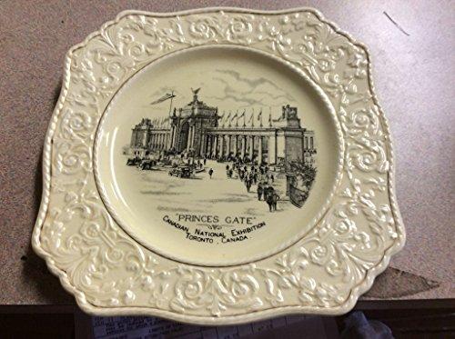 1927 Grimwades Royal Winton Plate - Princes Gate, Canadian National Exhibition, Toronto, Canada