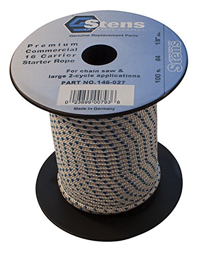 Stens - 146-027 100' Solid Braid Starter Rope, 4 Solid Braid, ea, 1