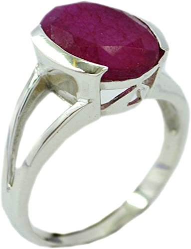 REMARKABLE 6 CT RUBY 925 STERLING SILVER RING SIZE 5-10