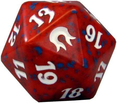 MTG Spindown D20 Life Counter - Born of the Gods Red