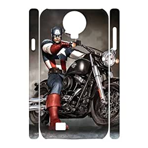 C-EUR Cell phone case Captain America Hard 3D Case For Samsung Galaxy S4 i9500