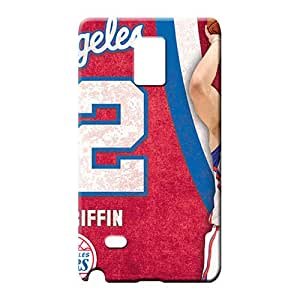 samsung note 4 Slim Shock Absorbent Awesome Look cell phone carrying skins los angeles clippers nba basketball