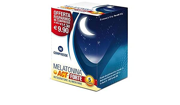 Amazon.com: Melatonin ACT + 5 Strong Complex Food Supplement 90 Tablets: Health & Personal Care