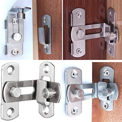 2 Large 90 Degree Right Angle Door Latch Buckles Curved Latch Bolts Sliding Lock Lever Bolts for Doors and Windows by ming (Image #6)