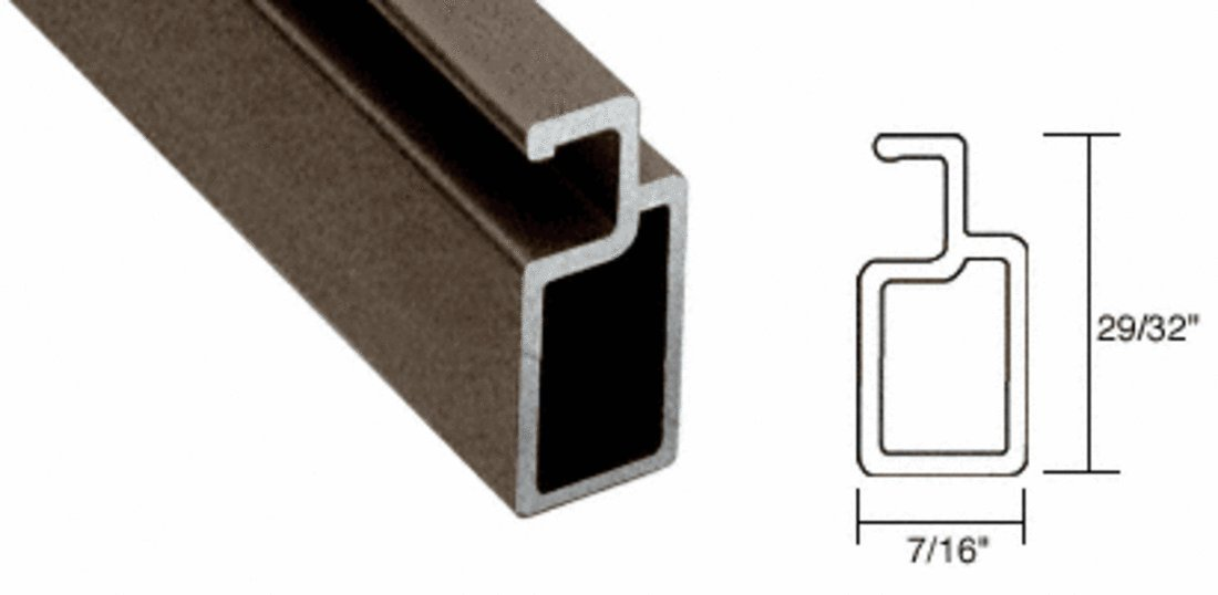 CRL Bronze 29/32'' x 7/16'' Heavy Wall Extruded Screen Frame - 144''