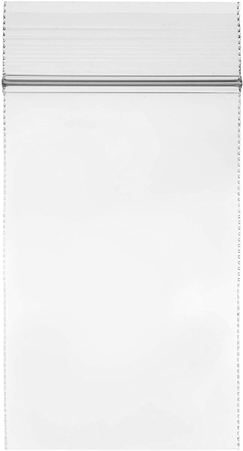 """Clear Plastic Reusable ZIPLOCK Bags - Bulk GPI Case of 1000 2"""" x 3"""" 4mil Thick Heavy Duty, Strong & Durable Poly Baggies with Resealable Zip Top Lock for Travel, Storage, Packaging & Shipping."""