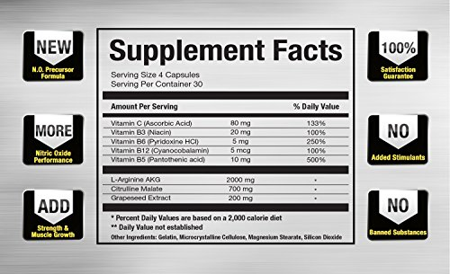 N.O. Boost #1 Nitric Oxide Booster Supplement | Cutting-Edge Nitric Oxide For Lean Muscle, Workout Energy, Cardio & Strength | 100% Risk-Free Guarantee | USA-Made Mesomorph Labs