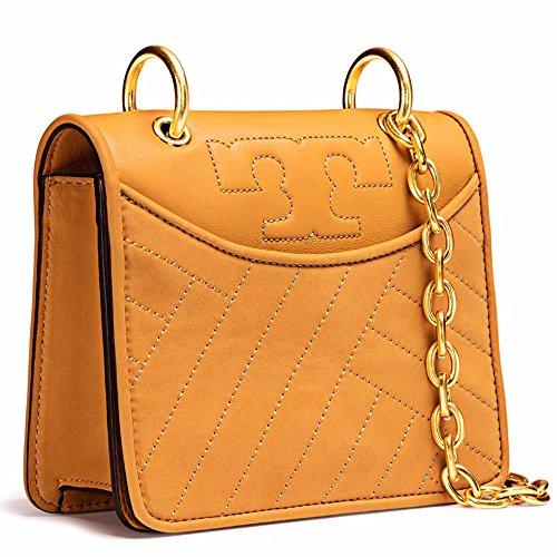 Tory Burch Alexa Mini Crossbody Bag Shoulder Bag Leather (Solarium) Lux Mini Wallet