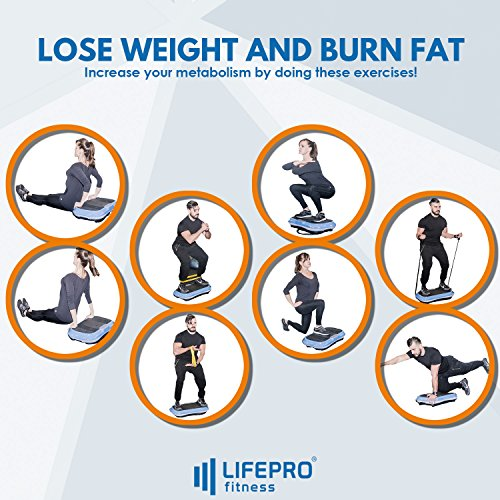 LifePro Vibration Plate Exercise Machine - Whole Body Workout Vibration Fitness Platform w/Loop Bands - Home Training Equipment for Weight Loss & Toning - Remote, Balance Straps, Videos & Manual by LifePro (Image #7)