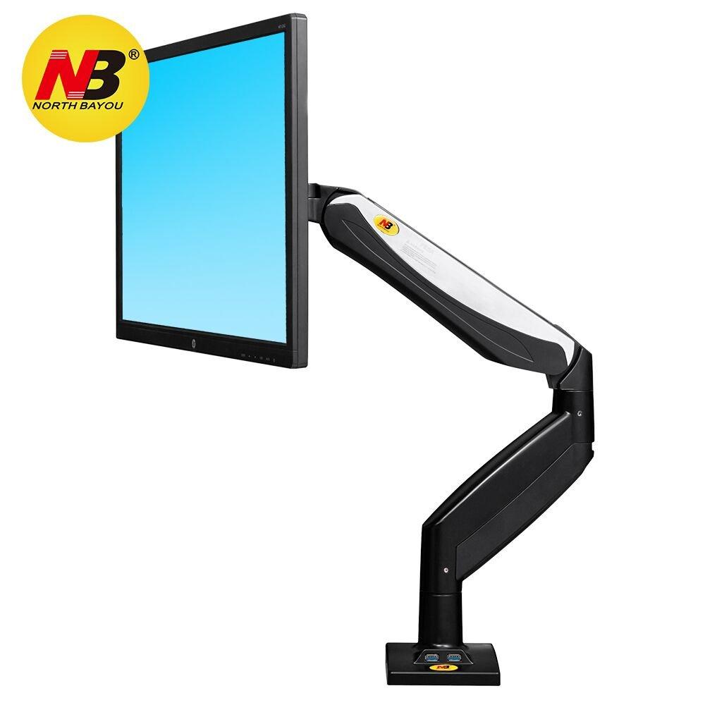 STANDMOUNTS Monitor Tischhalterung F85A mit Gasdruckfeder Drehbar Neigbar Höhenverstellbar für Monitorhalterung für Höhenverstellbar OLED LED LCD Monitore Monitorständer 22 - 32 Zoll   VESA 75 x 75 - 100x100 mm ba16e5