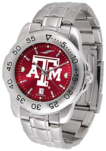 (Texas A&M Aggies Sport Steel AnoChrome Men's Watch)