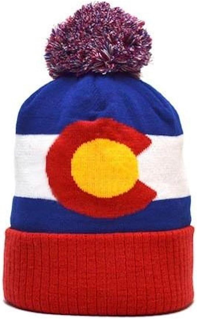 YoColorado Vintage Colorado State Flag Beanie