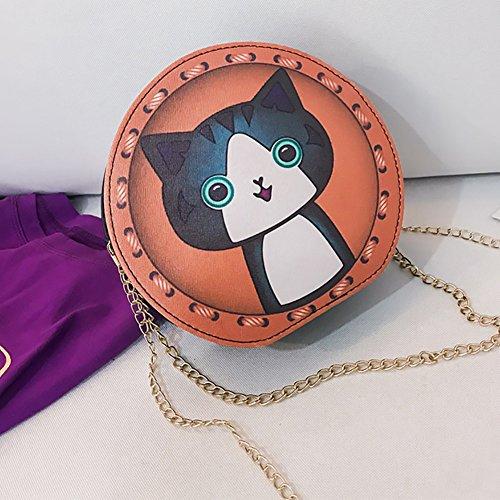 Girls Animal Shoulder Cartoon 1 Cute Pattern Women Leather Dog Body Cross Cat Fashion Yosemite Bag Round Monkey Bag zq5OxT8OnZ