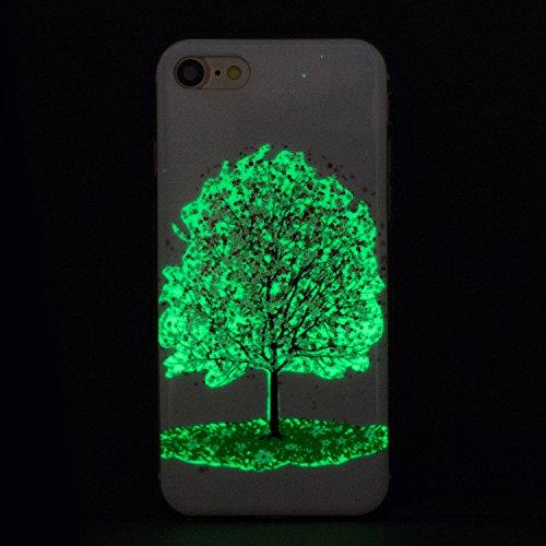 Custodia iPhone 7 Plus , LH Ciliegio Fluorescenza Silicone Morbido TPU Case Cover Custodie per Apple iPhone 7 Plus 5.5
