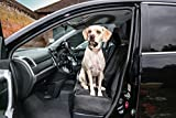 Heated Dog Bed - EASTER SPECIAL OFFER Quilted Luxury Waterproof Front Car Seat Cover for Dogs Universal Fit Seat Protector For Pets by Bishopstone Pets