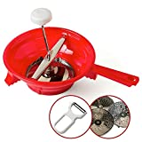 Alisa Home Foley Food Mill with Vegetable Peeler - Large Manual Mill for Making Puree or Soups of Vegetables, Tomatoes, Applesauce - Stainless Steel Blades, BPA Free, Dishwasher Safe