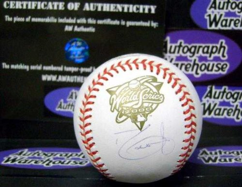 2000 World Series Baseball (David Justice autographed baseball 2000 World Series (New York Yankees Champions) Steiner Sports Authentication Hologram AW Certificate)