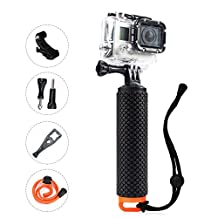 Waterproof Floating Handle, OXOQO Handler Grip,Floating Stick Pole, Diving Sport Monopod,The Handle Mount Accessories Kit for Action Camera, Gopro Hero4 Session/Hero4/3+/3/2/1