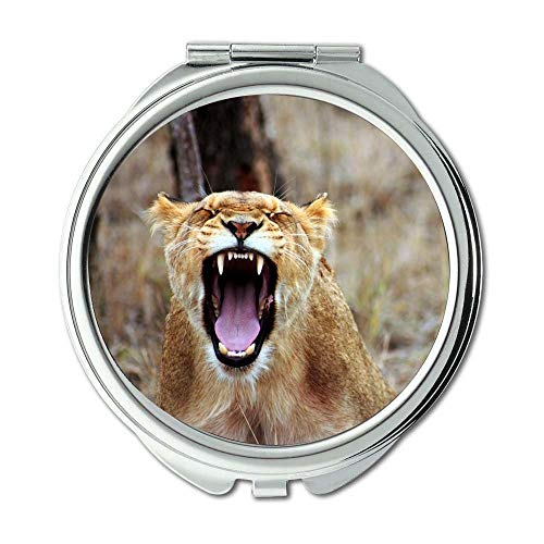 Mirror,makeup mirror,africa anger animal,pocket mirror,portable -