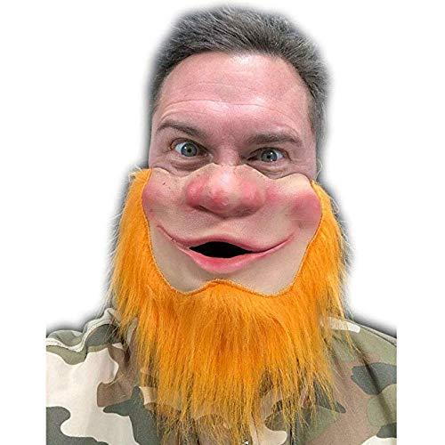 Rubber Johnnies Leprechaun Half Face Mask, Ireland Masks , Ginger , Adult , 1 Size -