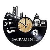 Sacramento Record Wall Clock -