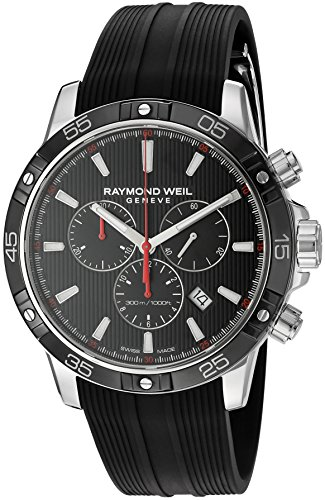 Raymond-Weil-Mens-Tango-Swiss-Quartz-Stainless-Steel-and-Rubber-Casual-Watch-ColorBlack-Model-8560-SR1-20001