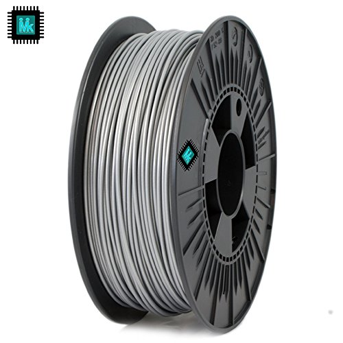IMIK 1.75mm PLA Filament 1 KG Roll for 3D Printers (Silver)