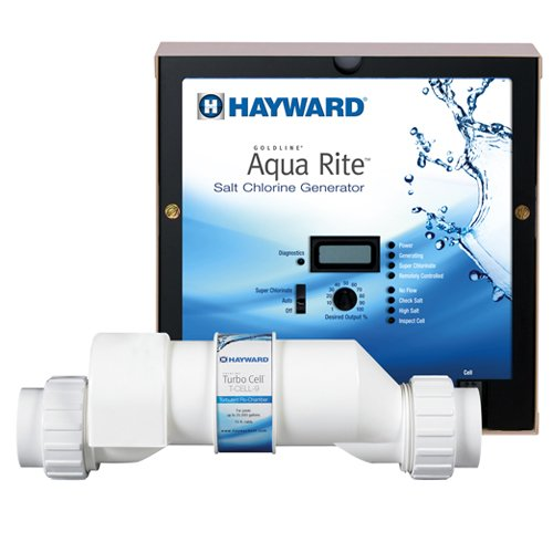 Hayward AQR15XLCUL Aqua Rite XL Salt Chlorine Generator & 40K Gallon Cell (Plug-in) 120V by Hayward