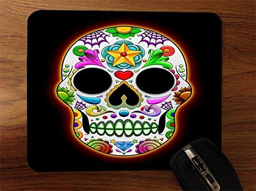 Price comparison product image Colorful Candy Skull Desktop Office Silicone Mouse Pad