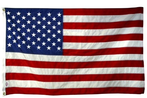 4X 6 FT US American Flag 2-ply Sewn Polyester Commercial & 6 Month Warranty ()