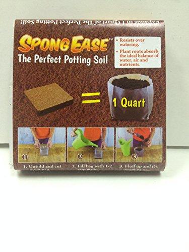 spongease-potting-soil-1qt-compressed-coconut-coir-for-seedlings-rooting-vegetables-berries-roses-or