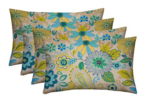 - RSH Décor Set of 4 Indoor/Outdoor Lumbar Rectangular Throw Pillows (12
