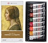 ZenART's Portrait Palette Oil Paint Set – with Earth Colours from The Infinity Series of Professional Artists' Oil Colours, Non-Toxic, Lightfast, High Pigment Load, 8 (1.52 fl oz) Tubes