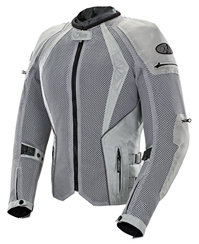 - Joe Rocket Cleo Elite Women's Mesh Motorcycle Jacket (Silver, Medium)
