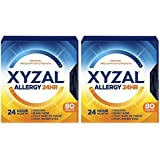Xyzal Allergy 24 Hour 80 Tablets (Pack of 2)