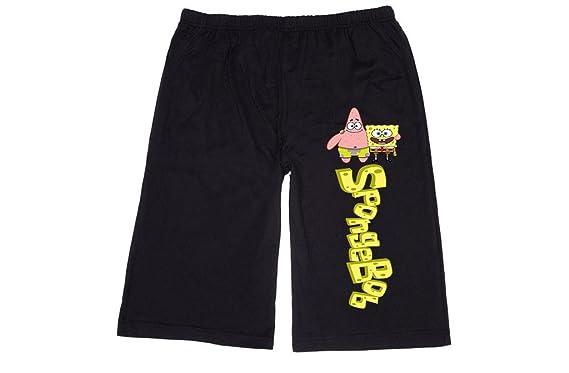 43e1417131 FK Men's spongebob patrick spongebob squarepants Lounge breeches Shorts  Pants XL Black