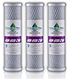 3 X Universal 10 inch Carbon Block filter cartridge for Whole House Filter - 5 micron (NSF Listed) - replaces DuPont WFPFC8002, Watts HW-LD, GE FXWTC and more ...