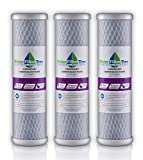 10 whole house water filter - Universal 10 inch Carbon Block filter cartridge for Whole House Filter - 5 micron (3)
