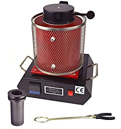 2 KG Automatic Gold Melting Furnace 110V For Refining Casting Gold Silver Copper Into Ingots Making Jewelry Melting Precious Metal Alloys