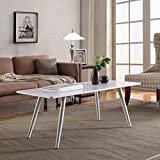 Madison Home Modern And Simply Designed Coffee Table White Finish