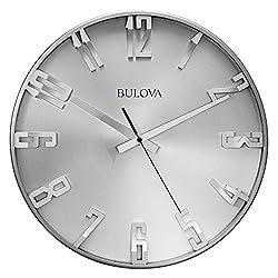 Bulova C4846 Director Wall Clock, Satin Pewter Finish