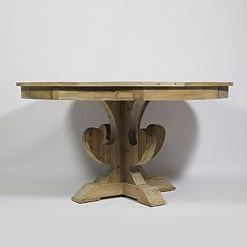 Hervorragend Runder Tisch Mittelfuß AuthentiQ recycle, Holz, Natur: Amazon.de JX12