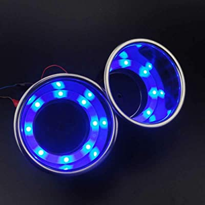 YUSHUN 2 Pcs Stainless Steel Built-in LED Cup Drink Holder for Boat/Yacht/Truck/Car (2pcs Blue): Automotive [5Bkhe1504060]
