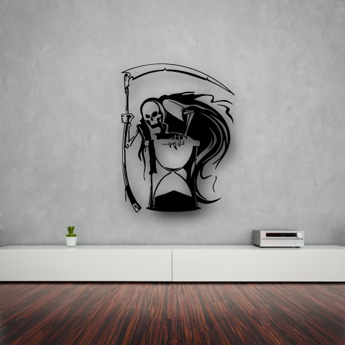 Wall Stickers Vinyl Decal Death Grim Reaper Hourglass i758
