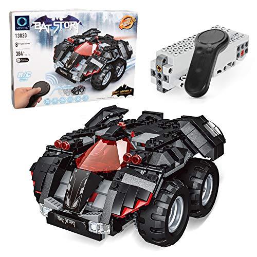 MOTION Kids Toys Educational Remote Control Building Bricks kit (Black bat - Legendary Car Motor