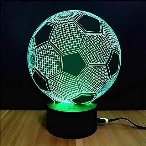 Amazon.com: Oro feliz 7 colores 3d luz de noche regalo de ...