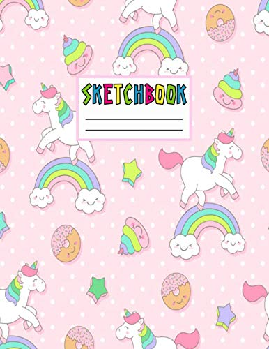 Sketchbook: Cute Unicorn Kawaii Sketch Book for Girls, for sale  Delivered anywhere in USA