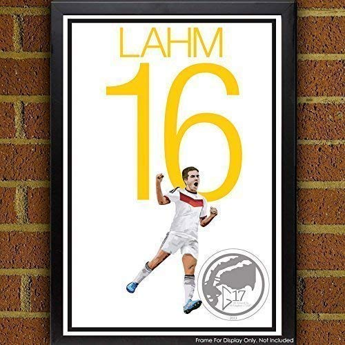 Amazon.com: Philipp Lahm Poster - German Soccer Art: Handmade